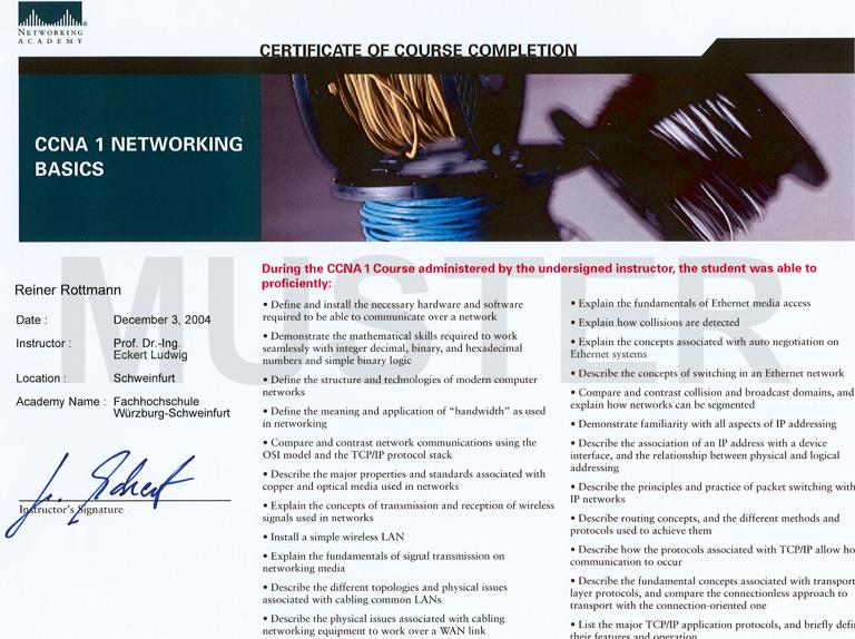 CCNA-Qualifizierung